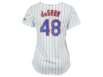 New York Mets Jacob deGrom Majestic MLB Women's Cool Base Player Replica Jersey