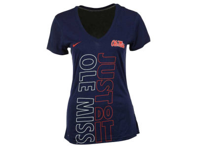 Ole Miss Rebels Nike NCAA 2015 Women's Legend Mid-V Just Do It T-Shirt