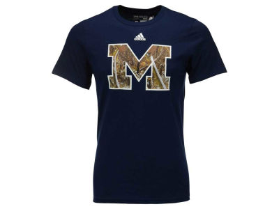 Michigan Wolverines adidas NCAA Men's Camo Hunted Logo T-Shirt