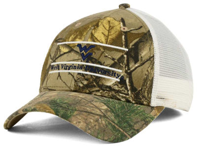 West Virginia Mountaineers NCAA Camo Mesh Bar Snapback Cap