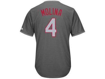 St. Louis Cardinals Yadier Molina MLB Men's Platinum Cool Base Jersey