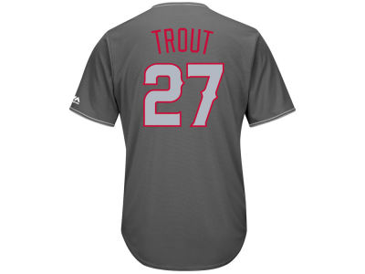 Los Angeles Angels Mike Trout Majestic MLB Men's Platinum Cool Base Jersey