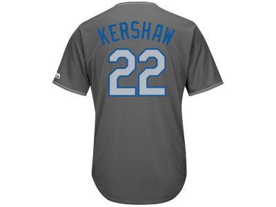 Los Angeles Dodgers Clayton Kershaw MLB Men's Platinum Cool Base Jersey