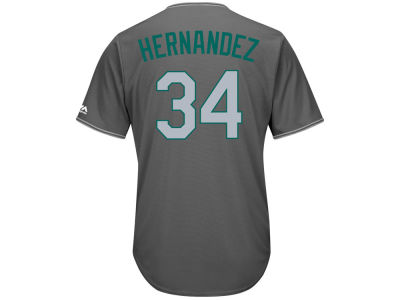 Seattle Mariners Felix Hernandez Majestic MLB Men's Platinum Cool Base Jersey