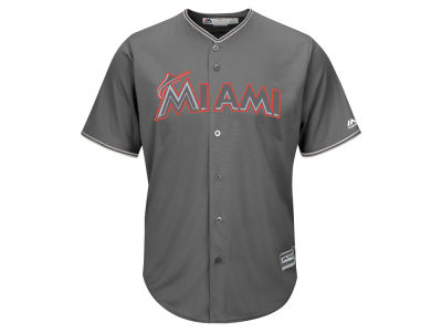 Miami Marlins Majestic MLB Men's Platinum Cool Base Jersey