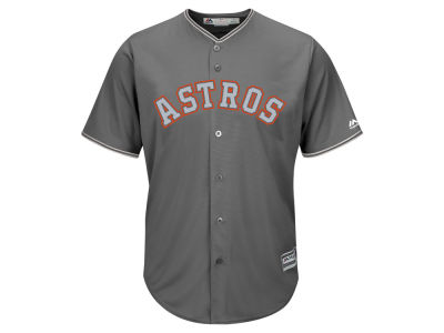 Houston Astros Majestic MLB Men's Platinum Cool Base Jersey