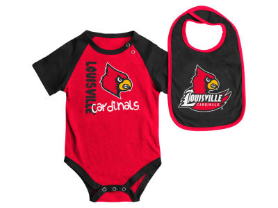Louisville Cardinals NCAA Newborn Rookie Onesie & Bib Set
