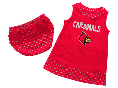 Louisville Cardinals NCAA Newborn Girls Heartbeat Dress Set