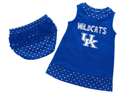 Kentucky Wildcats NCAA Newborn Girls Heartbeat Dress Set