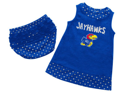 Kansas Jayhawks NCAA Newborn Girls Heartbeat Dress Set