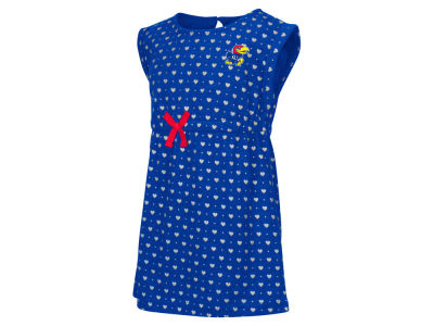 Kansas Jayhawks NCAA Toddler Girls Heartbeat Dress