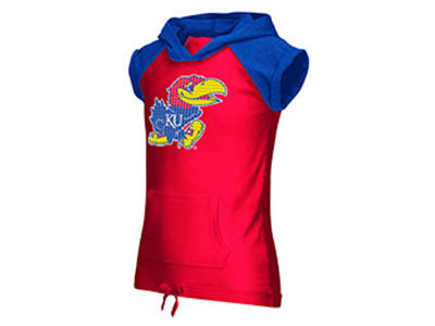 Kansas Jayhawks NCAA Youth Girls Jewel Short Sleeve Hoodie