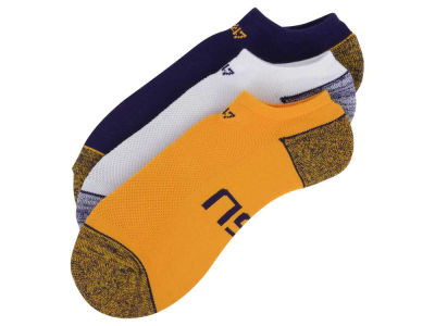 LSU Tigers 3-pack Blade Motion No Show Socks