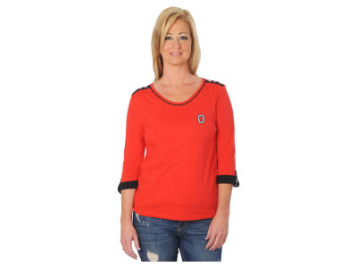 Ohio State Buckeyes NCAA Women's Missy Roll Up Sleeve Shirt
