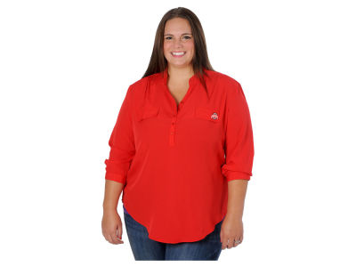 Ohio State Buckeyes NCAA Women's Plus Size Button Up Tunic