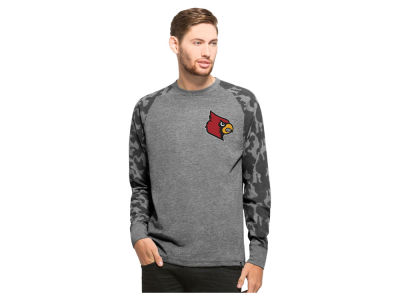 Louisville Cardinals NCAA Men's Recon Camo Raglan Crew Fleece