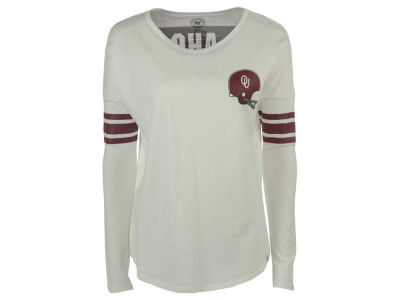 Oklahoma Sooners NCAA Women's Ultra Courtside Long Sleeve T-Shirt