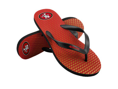 San Francisco 49ers High End Flip Flops