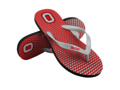 Ohio State Buckeyes High End Flip Flops