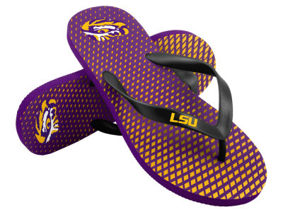 LSU Tigers High End Flip Flops