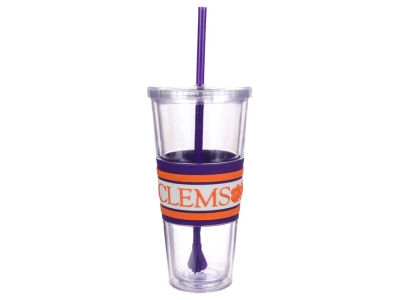 Clemson Tigers 22oz Hyped Straw Tumbler