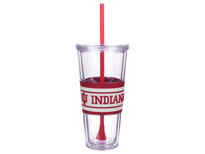 Indiana Hoosiers 22oz Hyped Straw Tumbler