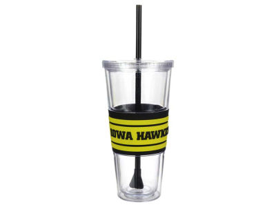 Iowa Hawkeyes 22oz Hyped Straw Tumbler