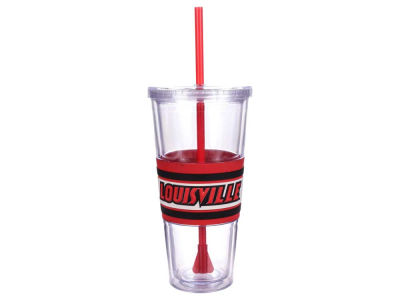Louisville Cardinals 22oz Hyped Straw Tumbler