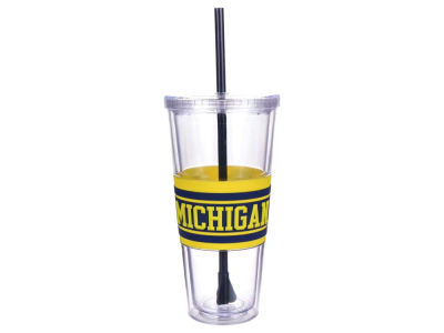 Michigan Wolverines 22oz Hyped Straw Tumbler