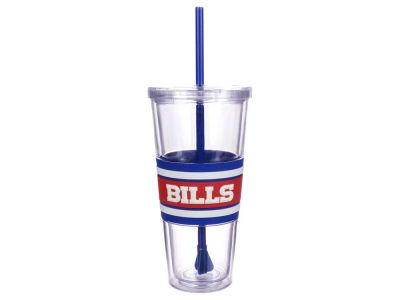 Buffalo Bills 22oz Hyped Straw Tumbler