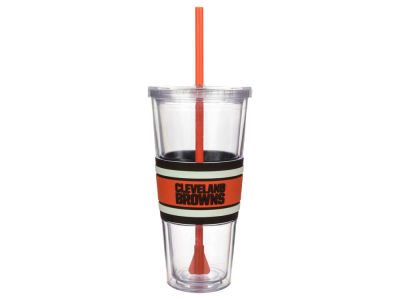 Cleveland Browns 22oz Hyped Straw Tumbler