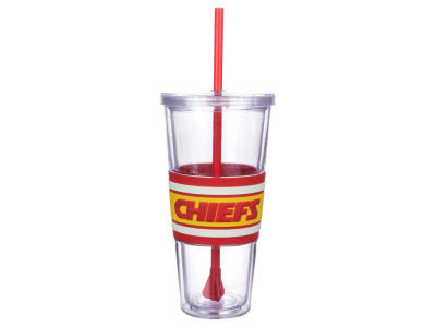 Kansas City Chiefs 22oz Hyped Straw Tumbler