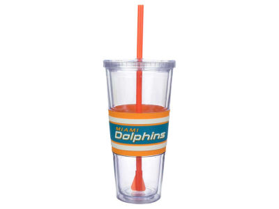 Miami Dolphins 22oz Hyped Straw Tumbler