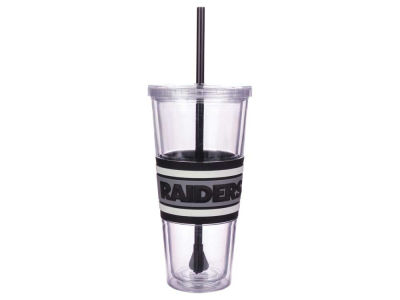Oakland Raiders 22oz Hyped Straw Tumbler