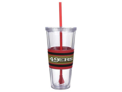San Francisco 49ers 22oz Hyped Straw Tumbler