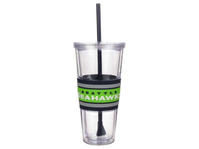 Seattle Seahawks 22oz Hyped Straw Tumbler