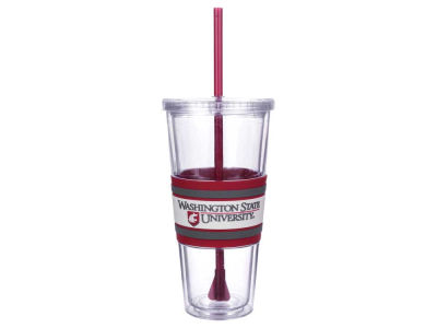 Washington State Cougars 22oz Hyped Straw Tumbler