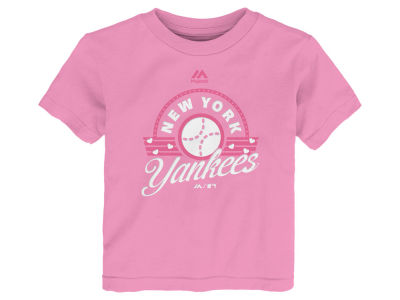 New York Yankees MLB Toddler Girls Baseball T-Shirt