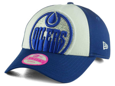 Edmonton Oilers New Era NHL Women's Glitter Glam 9FORTY Adjustable Cap