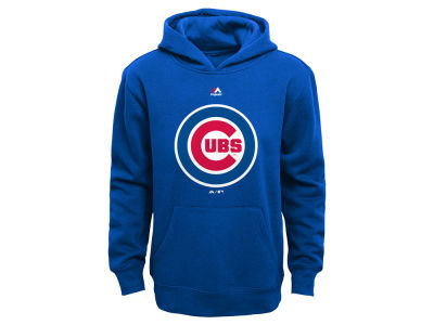 Chicago Cubs Majestic MLB Youth Primary Logo Hoodie