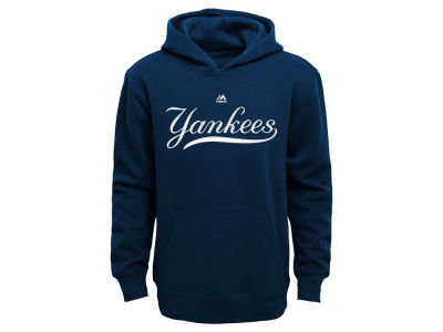New York Yankees Majestic MLB Youth Wordmark Fleece Hoodie