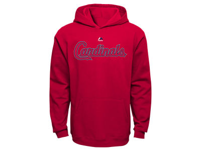 St. Louis Cardinals Majestic MLB Kids Wordmark Fleece Hoodie