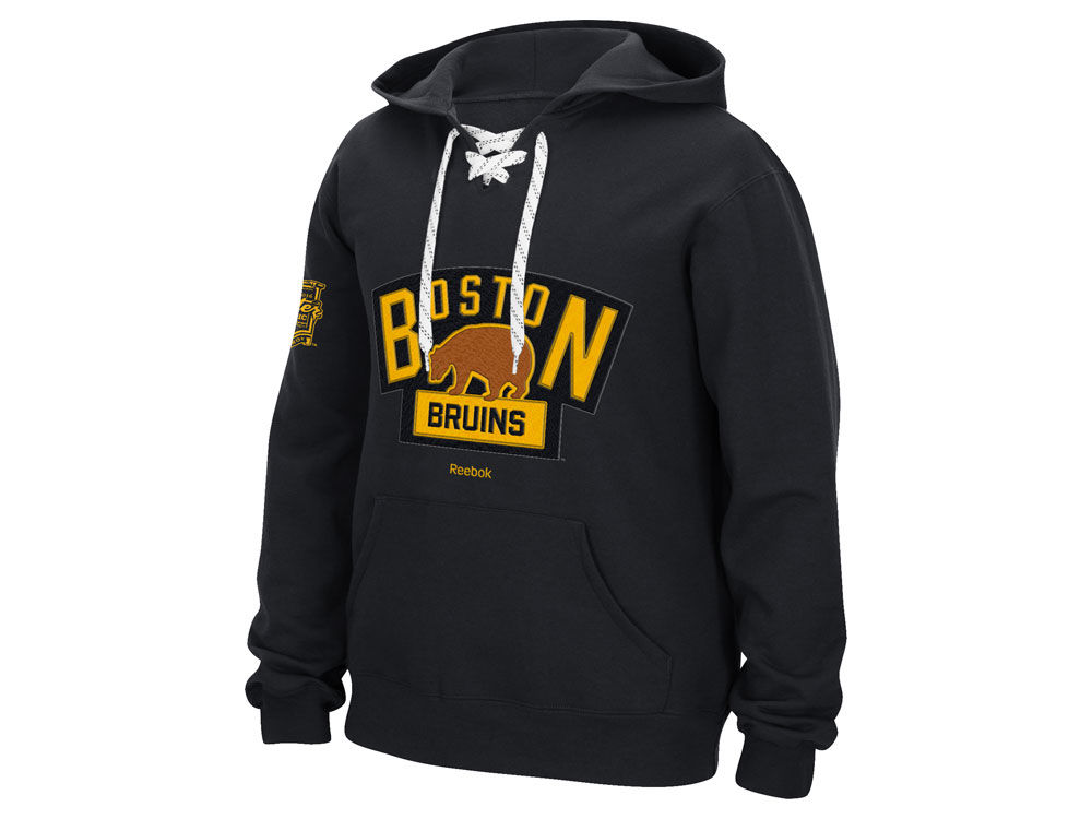 super popular b43ce 0f8a6 boston bruins lace hooded jersey