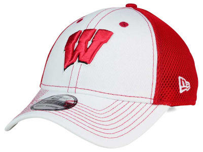 Wisconsin Badgers New Era NCAA Team Front Neo 39THIRTY Cap