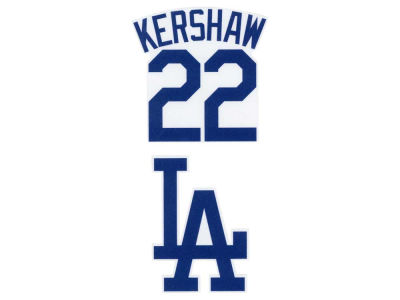 Los Angeles Dodgers Clayton Kershaw 2-pack 4x4 Die Cut Decal