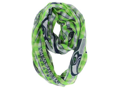 Seattle Seahawks NFL Infinity Plaid Scarf