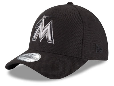 Miami Marlins New Era MLB Tone Tech 39THIRTY Cap