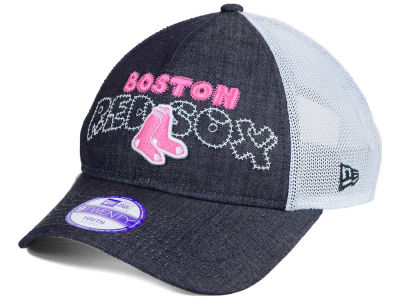 Boston Red Sox New Era MLB Youth Denim Stitcher 9TWENTY Cap