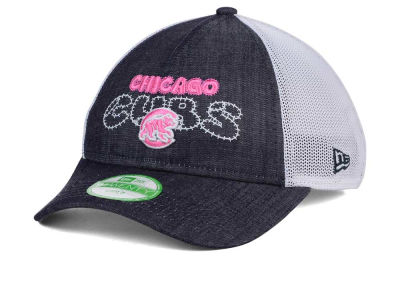 Chicago Cubs New Era MLB Youth Denim Stitcher 9TWENTY Cap