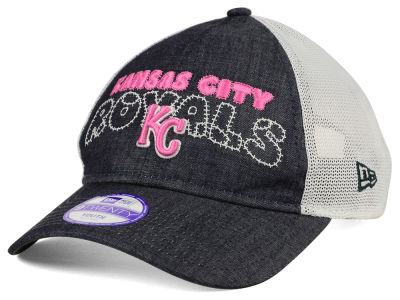 Kansas City Royals New Era MLB Youth Denim Stitcher 9TWENTY Cap